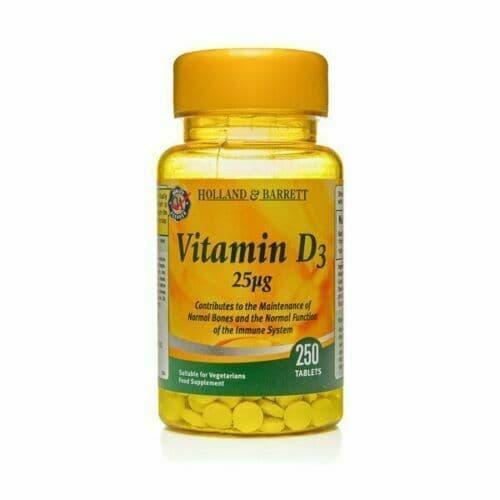 Immunity Support  Holland & Barrett Vitamin D3 250 Tablets 25ug       Popular!1